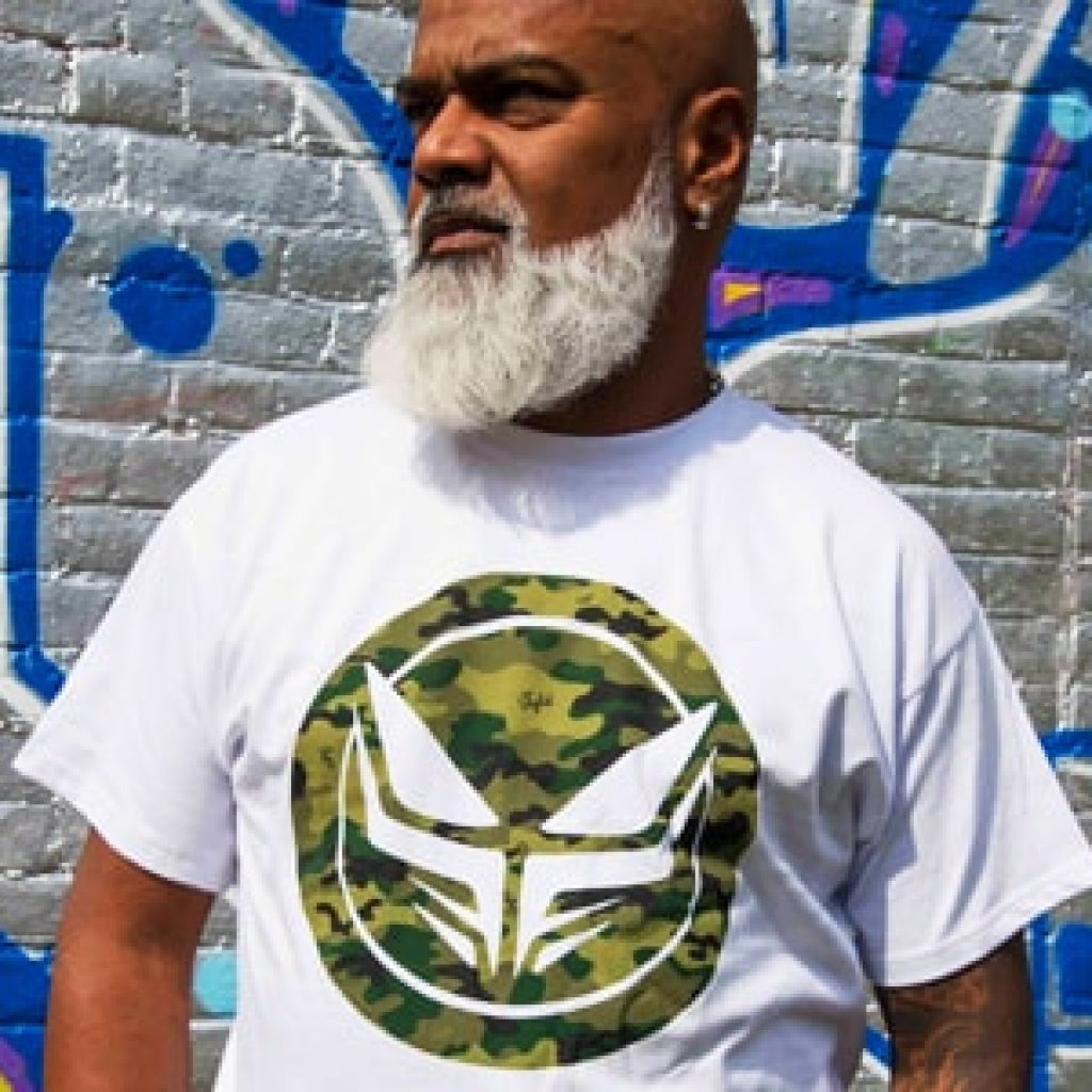 Ray Keith wearing Dread Recordings T-Shirt
